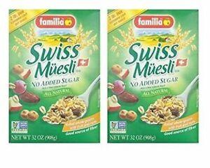 Familia Swiss Muesli (No Sugar Added) Cereal - 32 oz (Pack of 2)