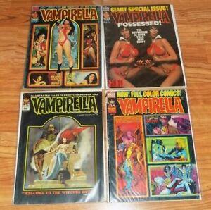 Vampirella Vintage Horror Magazine 4 Issue Lot Warren Comic #15 #26 #45 #76