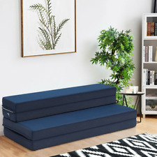 5 Quart Folding Futon Sleepover Sofa Bed Foam Mattress