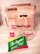 7UP The UnCola Upside Down Drinking Glasses Set of 2 Vintage 1985
