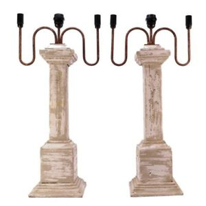 Pair Older French Country Table Lamps