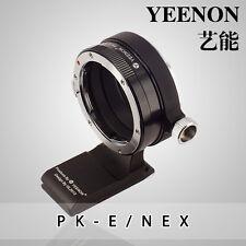 【YEENON】Pentax PK  lens TO SONY E Camera Adapter (With 90º rotating tripod base)