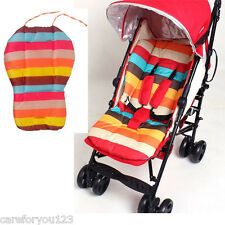 Baby Rainbow Stroller Waterproof Cushion Pad Pram Padding Liner/Car Seat Pad New