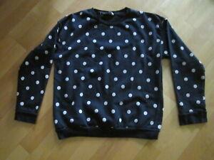 Pullover Sweet  Kurz schwarz creme Punkte Gr xl
