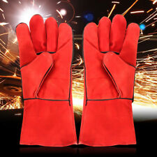 XL Welding Gloves High Temperature Leather Protect Welder Hands Long Glove Stove
