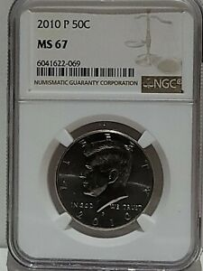 2010-P KENNEDY HALF DOLLAR NGC MS67