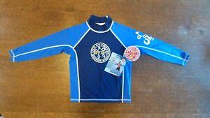 BNWT, Boys, L/sleeve, Rash, Sun Protection, Swim Shirt, Navy, SPF 50+, Age 1-2