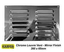 Chrome Plated Brass Air Vent 260 x 165mm Metal Louvred Ventilation Mirror Finish