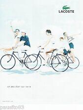 PUBLICITE ADVERTISING 116  2010   les vetements de sport Lacoste