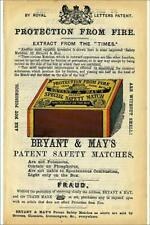 """14088606 12""""x8"""" (30x20cm) Print Advertisement for Bryant and May..."""