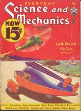 Science & Mechanics magazine  December 1932  Hugo Gernsback  Land Sea & Air Cars