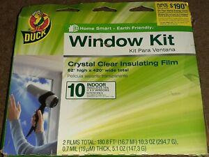 BRAND 281506 Indoor 10-window Shrink Film Insulator Kit 62-inch X 420-inch