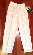 Summer Sale! Dress Pants Briggs NY Women's Cream w/Wine Colored Belt, 8