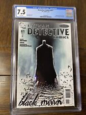Batman: Detective Comics #871 The Black Mirror Jock Cover CGC Graded 7.5 DC Book