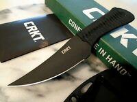 """CRKT Scrub Fixed Blade Skinner Dagger Knife SK5 2712 Full Tang Black 7 1/4"""" OA"""