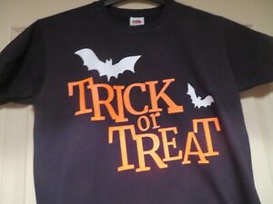 Trick or Treat T-shirts for Kids in Black or White - ideal Halloween