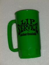 "Lip Service - Vintage Plastic Mug - Lippy - Clothes From Hell - 7"" x 4"" - Metal"