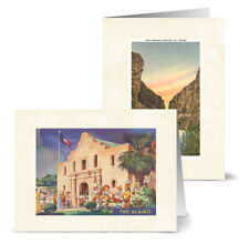 Vintage Texas - 36 Note Cards - 12 Designs - Off-White Ivory Envs