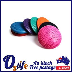 Balance Stability Cushion Wobble Air Disc Ankle Knee Strength Rehab Exercise AU