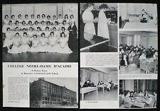 COLLEGE NOTRE-DAME D'ACADIE MONCTON NEW BRUNSWICK CANADA 2pp PHOTO ARTICLE 1958