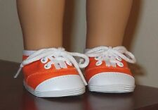 18 inch doll ORANGE SNEAKERS SHOES made to fit American Girl