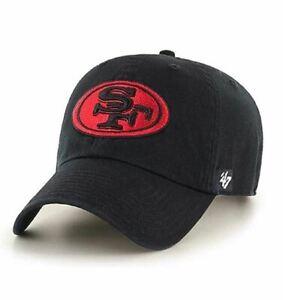 San Francisco 49ers '47 Brand Clean Up Adjustable Hat - Black