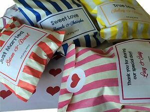 Personalised Sweet Wedding Favour Bags - Custom Printed - Candy Pick n Mix Party