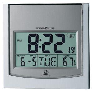 "625-235 NEW HOWARD MILLER WALL DIGITAL (ALARM) CLOCK CALLED ""TECHTIME I""  625235"