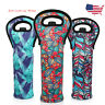 3x Lagute Reusable Wine Bottle Carriers Tote, Neoprene Carrier Cooler Bag *US*