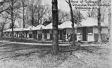 Ottawa Illinois~Tent Colony~Row of Cottages~Boy on Stoop #68~CU Williams 1909 PC