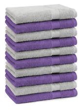Betz Lot de 10 serviettes débarbouillettes Premium lila & gris argenté