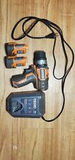 Ridgid R82009 12V Cordless 3/8 2speed Drill Driver.2Battery Charger all working