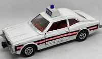 Corgi Toys Whizzwheels Ford Cortina GXL Police Car White Pink Vintage Vtg