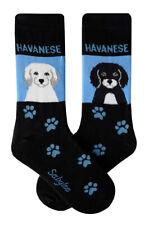 Havanese Crew Socks Unisex Blue