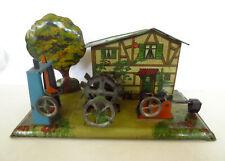 Vintage / antique Wilhelm Krauss Steam Tin Lithograph Mill