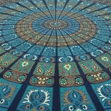 Large Queen Blue Indian Elephant Mandala Tapestry Wall Hanging Picnic Bohemian A