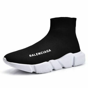 Womens Designer Style Knit Speed Sock Runner Trainers Sneakers Shoes UK 3-9