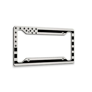American Flag License Plate Frame HD Thick Aluminum Made in USA Car Tag Frame