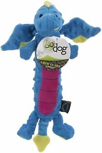 "Godog Sherpa 18"" Skinny Dragon Large With Chew Guard Dog Toy Fetch Toss Tug"