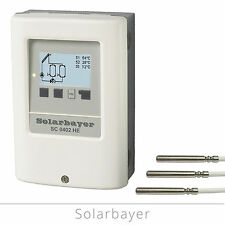 Solarbayer Zweikreis-Solarregler SC0402 HE Solarsteuerung Solar-Differenzregler
