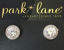 Park Lane Incredible Real Thing Halo Cz Earrings Silver Tone Statement Bling Set
