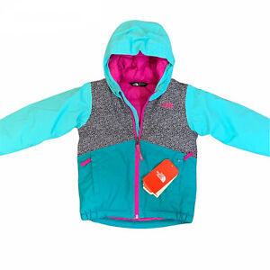 The North Face Girls Size 5 NWT Snowquest Insulatef Jacket Hoodie Full Zip