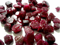 50 Cts EARTH MINED BEAUTIFUL NATURAL RED RUBY BURMA ROUGH GEMSTONE LOT