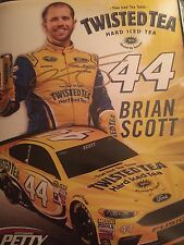 2016 BRIAN SCOTT TWISTED TEA signed autographed hero card
