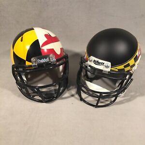 PV06823 University of Maryland Terrapins Football Schutt & Riddell Mini Helmets