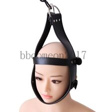 Faux Leather Head Suspension Harness Mask Hanger Ring Bondage Restraint SM Toy