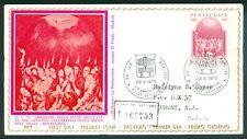 Vatican City Sc# 572: Pentecost on Registered FDC