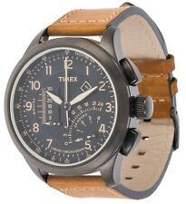 Timex Adventure Series Leather Chronograph Mens Watch T2P277