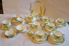 Super Paragon 41 Pces China  Hand Painted Tea /Dinner Service 1920s (two photos)