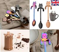 Stainless Steel Cute Cat Shape Coffee Spoons Tea Spoon Stirring Spoons Stylish